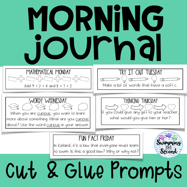 Daily prompts are perfect for those who are saving paper and can be used in a spiral notebook.