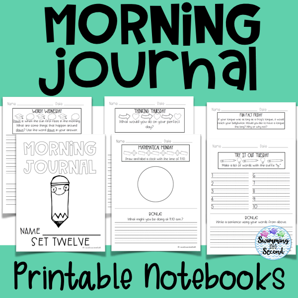 This set includes 12 printable notebooks with daily prompts and challenges.