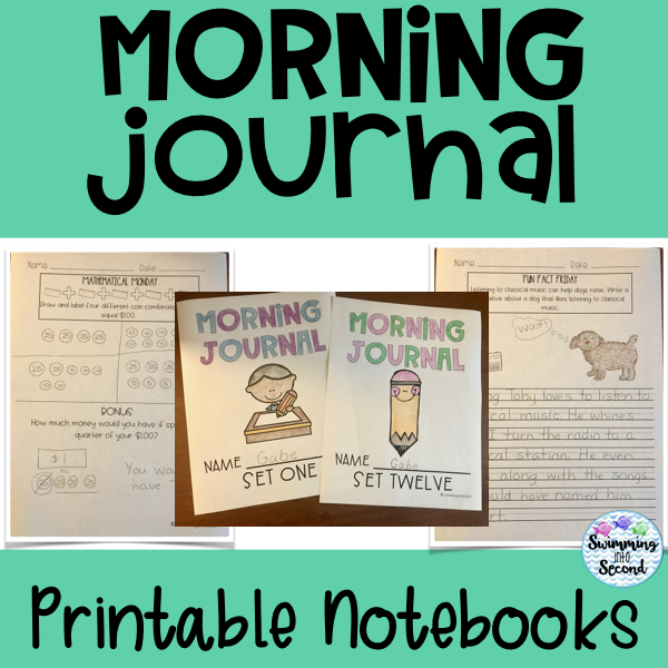 Print each set of notebooks and students have morning work ready for the entire month.