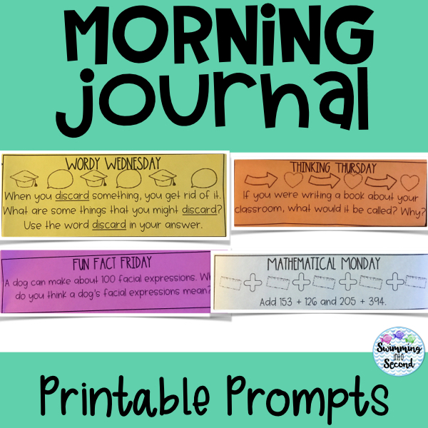 Print the daily prompts on colored paper to help with grading.