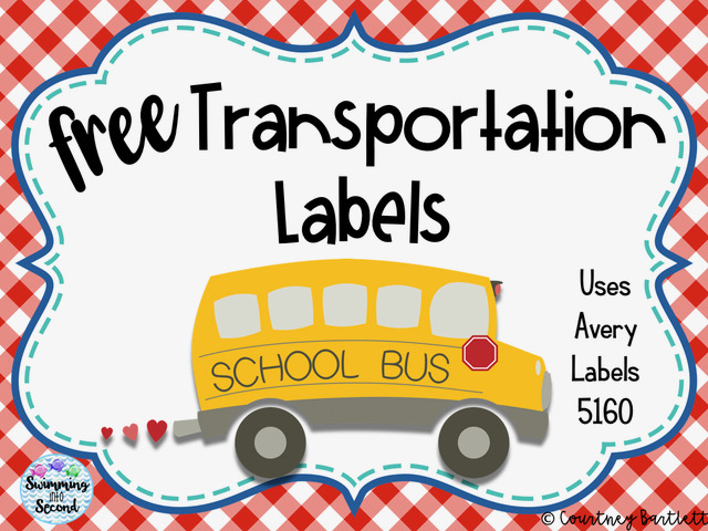 Free Transportation Labels