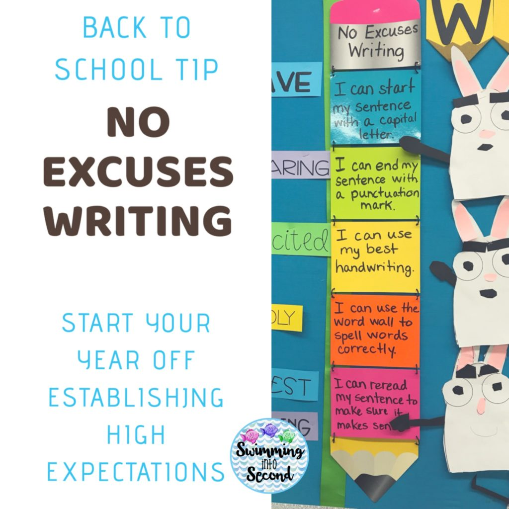 No Excuses Writing